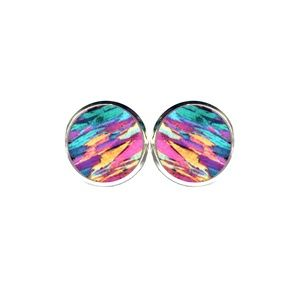 Rainbow Stone Earrings